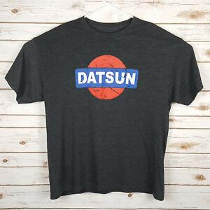 DATSUN LOGO DATSUN MOTORSPORTS - T-SHIRT MEN'S XL - DARK GREY - FREE SHIPPING
