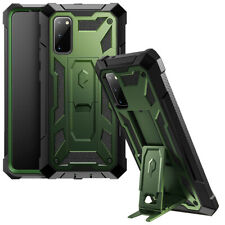 For Samsung Galaxy S20 Case,Dual-Layer Cover w/Leather Texture Metallic Green