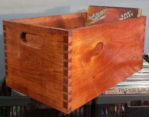 Record Crates with dovetail joints made with solid pine with a smooth finish