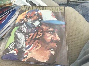 1974 Atlanta Braves Yearbook Hank Aaron Babe Ruth Cover