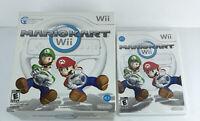 Mario Kart Nintendo Wii Game Complete /w Manual & Steering Wheel 2008 HG51