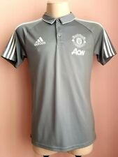 Manchester United polo football shirt Adidas gray top training size M BS4452