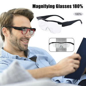 HANDS FREE MAGNIFYING GLASSES MAGNIFIER 180% With LED For READING SEWING PARENT
