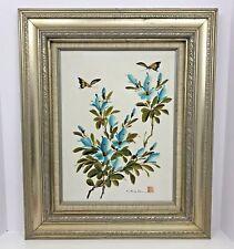 Mid Century Floral Still Life Original Oil Painting Artistic Interiors Framed