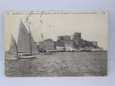 *ANTIQUE MARSEILLE- LE CHATEAU D'LF FORT PRISON POSTCARD**