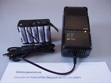 Roland V-Accordéon-Akkulader pour Roland fr3x fr4x Avec Batterie Pack (cellule 10xaa)