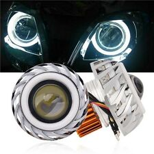 High/Low Beam Led Projector Motorcycle Headlight Angel Eyes White Devil Eyes Kit