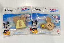 Set of 2 NEW Disney Kawaii Squeezeies Series 1 - Toast Shape & 1 Pancake MICKEY