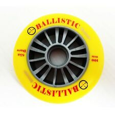 Razor Style Ballistic Scooter Wheel Silver Plastic Core 100mm With Yellow
