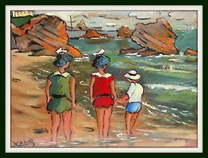tableau huile sur toile du peintre basque Xalo