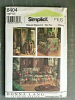 Simplicity 8404 Donna Lang Couch Chair Slip Cover Table Folding Screen Pattern