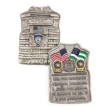 NYPD Critical Incident Response Capacity Police Dept Armor Vest Challenge Coin