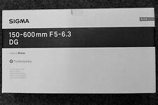 Neues Sigma 150-600mm F5-6.3 DG OS HSM Contemporary Objektiv für Canon DSLR Tele