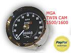 MGA MG A TWIN CAM 1500 1600 SPEEDOMETER 1 yr. warranty tach gas dual gauge water