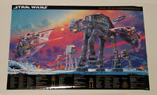 Original 1998 Star Wars At-At/At-St/Snowspeeder 36 by 24 tech specs poster:1990s