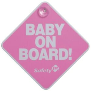 Safety 1st Baby On Board Sign Car Window Sign Decal Pink Baby Girl New