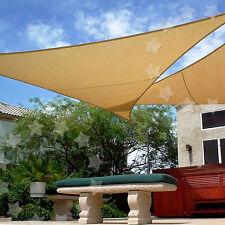 3.6m Garden Patio Sun Shade Sail Canopy Awning Sunscreen 98% UV Block 3 Shape