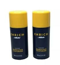 Lot of 2 Enrich By Gillette Beard Care All In One Beard and Face Moisturizer New