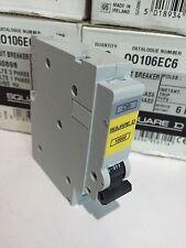 NEW Square D QOE 6A Circuit Breaker Single Pole Q0106EC6 C6 Type C 6 Amp