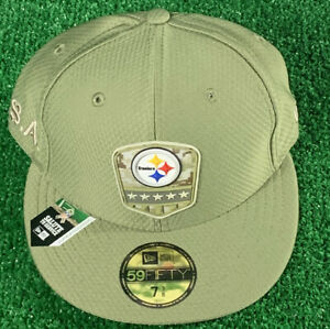 nfl cap new era 59 Fifty 7 3/8 STEELERS Salute To Service
