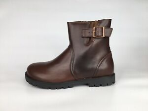 Birkenstock Womens Stowe Sz 6-6.5 Brown Leather Size Zipper Ankle Boots