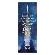 "23 x 63"" A Savior is Born X Stand Banner Satin Polyester"