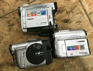lot of 3x camcorders - (1x Canon - 1x Samsung - 1x Hitachi) -