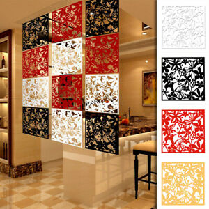 4/8/12pcs Room Divider Partition Wall Hanging Screen Decal Livingroom Art Panels