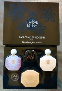 Vtg Jean-Charles Brosseau OMBRE ROSE Set, BATH COLLECTION - Gel, Lotion & Soap