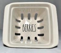 Rae Dunn Large Ceramic Berries Strainer - Brand New!