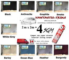 4sqm VAN LINING CARPET CAMPER VW T5 T6 PANELS HEAD **4 WAY STRETCH** inc 2 GLUE