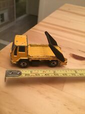 VINTAGE MATCHBOX SUPERFAST #45 FORD CARGO SKIP TRUCK YELLOW Good Condition
