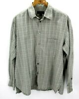 Ermenegildo Zegna Light Green Plaid Long Sleeve Button Up Dress Shirt Size XL
