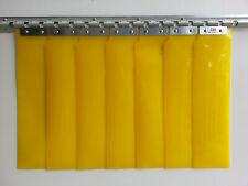 PVC plastic door strip curtain Door   2.1m(H) x 0.925m(W) Yellow 125mm/2mm