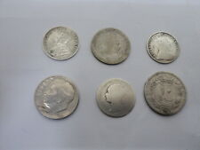 JOB LOT OF 6 SILVER COIN (10 SHAHI OTTOMAN , 3 PENCE 1929 SOUTH AFRICA , etc)