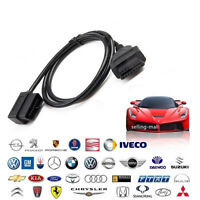 16 Pin Male to Female OBDII OBD2 Extension Cable Auto Diagnostic Extender 100CM