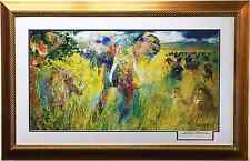 "LeRoy Neiman ""THE BIG FIVE 5"" Lithograph NEWLY CUSTOM FRAMED art HAND SIGNED"