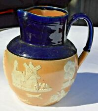 New listing Royal Doulton Lambeth Cobalt on Beige Hunting Pitcher