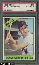 1966 Topps #390 Brooks Robinson Baltimore Orioles HOF PSA 8 NM-MT