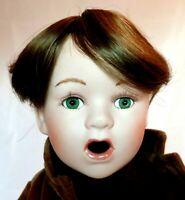 Monique Teeny Wispy Dark Brown Round Cap Doll Wig Size 6-8 Short Boy or Girl