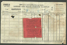 2X LONDON NORTH WESTERN RAILWAY BICYCLE TICKETS DUBLIN NORTH WALL EASTLEIGH 1911