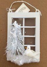 Winter Time Christmas White Dove Ornament - NEW