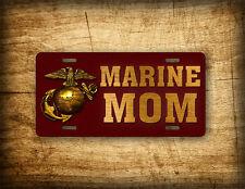Americana MARINE MOM License Plate USMC Emblem Auto Tag Eagle Globe & Anchor