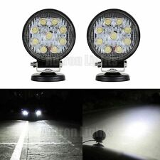 """2X 9 LED 4.5"""" 27W Work Light Flood Round Lamps Offroad For SUV Truck Jeep ATV"""