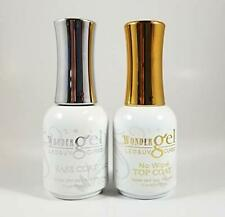 Wonder Gel UV/LED Soak off Gel (No-Wipe) Top Coat + Base Coat Duo