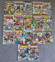 1970s Marvel CHAMPIONS #1 2 3 4 5 6 7 8 9 10 11 12 13 14 15 16 17 ~ FULL SET