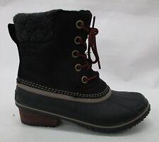 Sorel Womens Slimpack II Lace Boots 1702251 Black/Kettle Size 6