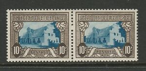 South Africa 1933-48 10/- Black & sepia with Spur on '1' R 1/3 SG 64c Mint.