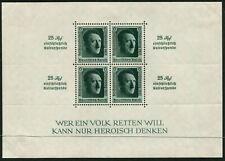 GERMANY - 1937 HITLER O'Print/Rouletted Miniature Sheet MH SG637 Cv £90 [B4044]