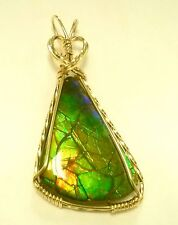 Natural Gold Filled Ammolite Pendant ON SALE !!!!!